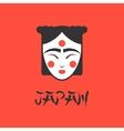 Stylized of a beautiful geisha vector