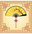 Oriental style painting vector