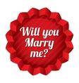 Wedding tag will you marry me sticker vector