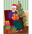 Christmas gifts for grandma vector