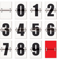 Number flaps counter vector