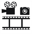 Camera and film strip vector