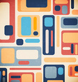 Retro geometrical abstract background vector