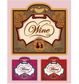 Set of labels for different kinds of wine vector