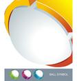 Sphere 3d design symbol vector