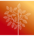 Abstract hand drawn tree autumn concept eps10 file vector