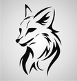 Fox tattoo design vector