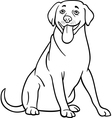 Labrador retriever dog cartoon for coloring vector