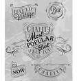 Heraldry chalk premium gray vector