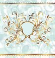 Background with golden ornate and heraldic shield vector