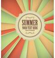 Vintage summer background vector