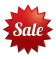 Sale tag red sticker icon for special offer vector