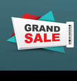 Grand sale banner with barcode vector
