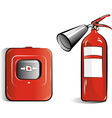 Co2 fire extinguisher vector