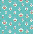 Cute heart seamless pattern vector
