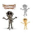 Halloween monsters spooky mummy eps10 file vector