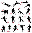 Football silhouettes vector