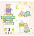 Baby bear set - for baby shower cards vector