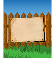 Poster on the fence vector