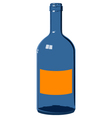 Blue glass bottle vector