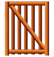 A wooden fence with a diagonal bar vector