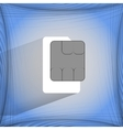 Sim card flat modern web button on a flat vector