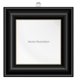 Simple black color frame vector