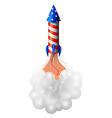 A rocket bomb vector