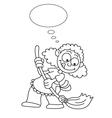 Cartoon housewife vector