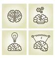 Brain icon - invention and inspiration symbols vector
