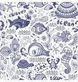 Set of fish and shells vector