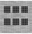 Prison grey brick wall vector