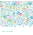 Seashells line art horizontal seamless pattern vector