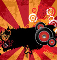 Urban grungy music banner vector