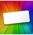 White paper banner on colorful striped background vector
