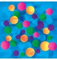 Colorful circles abstract light background vector