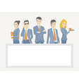 A business team of young businesspeople s vector