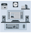 Home workplace concept vector