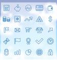 25 finance icons set vector