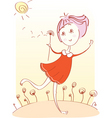 Girl flower vector