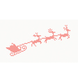 Knitted pattern with santa claus vector