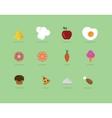 Flat food icon vector