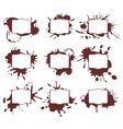 Ink splats frames vector