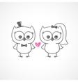 Wedding owls vector