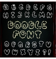 English alphabet in doodle style vector
