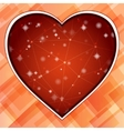 Love symbol light straight lines abstract vector