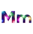 Set of letters firework m vector