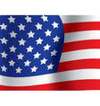Close up of usa flag vector