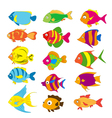 Set of tropical fishes vector