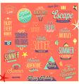 Summer emblems set vector